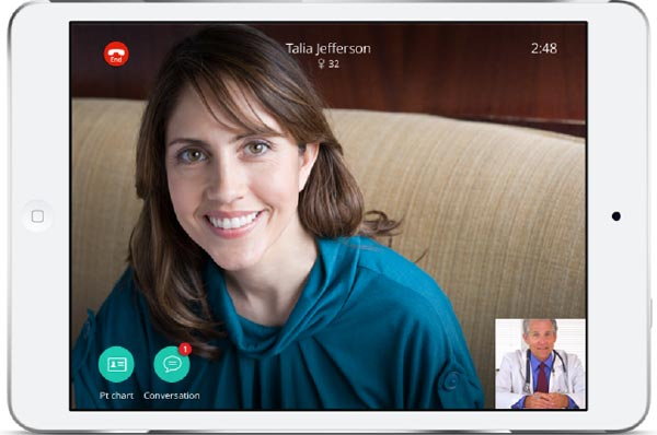 doctor support video chat.